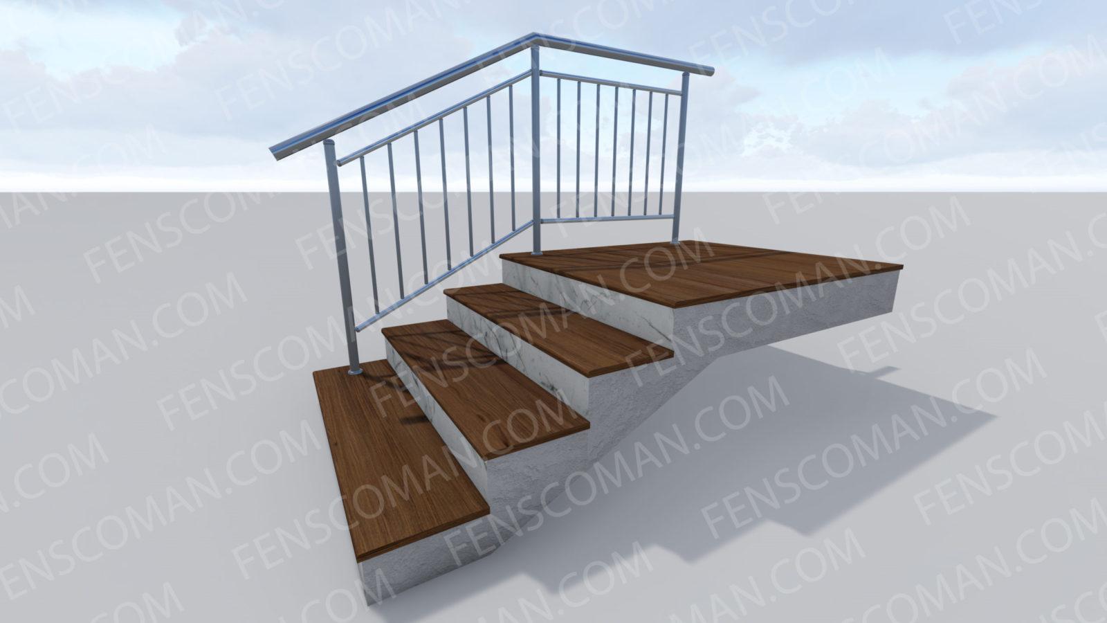 Ограждения для лестниц ОГ-В-201
