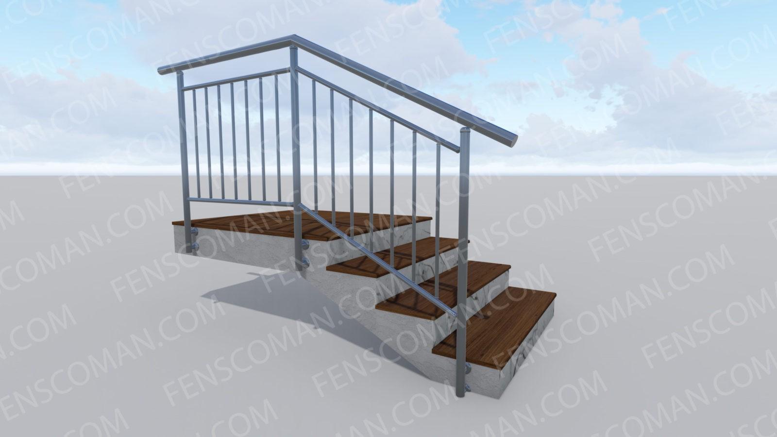 Ограждения для лестниц ОГ-В-Б-201
