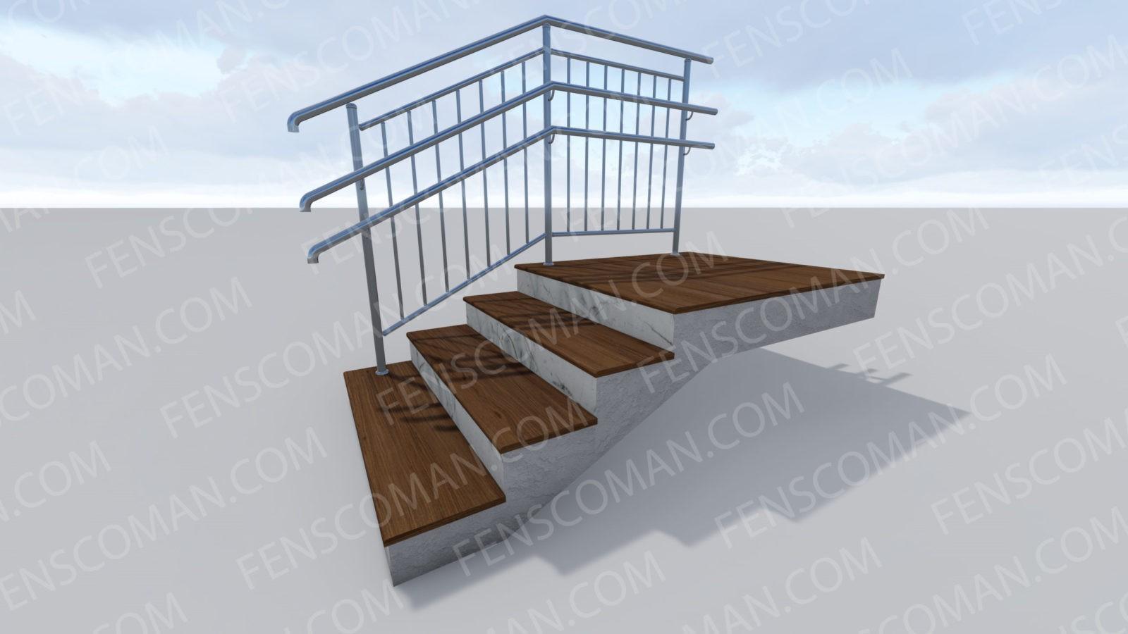 Ограждения для лестниц ОГ-В-2-201