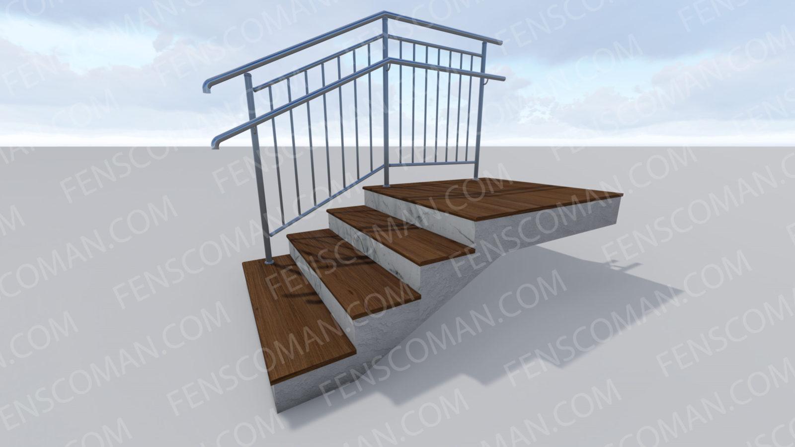 Ограждения для лестниц ОГ-В-1-201