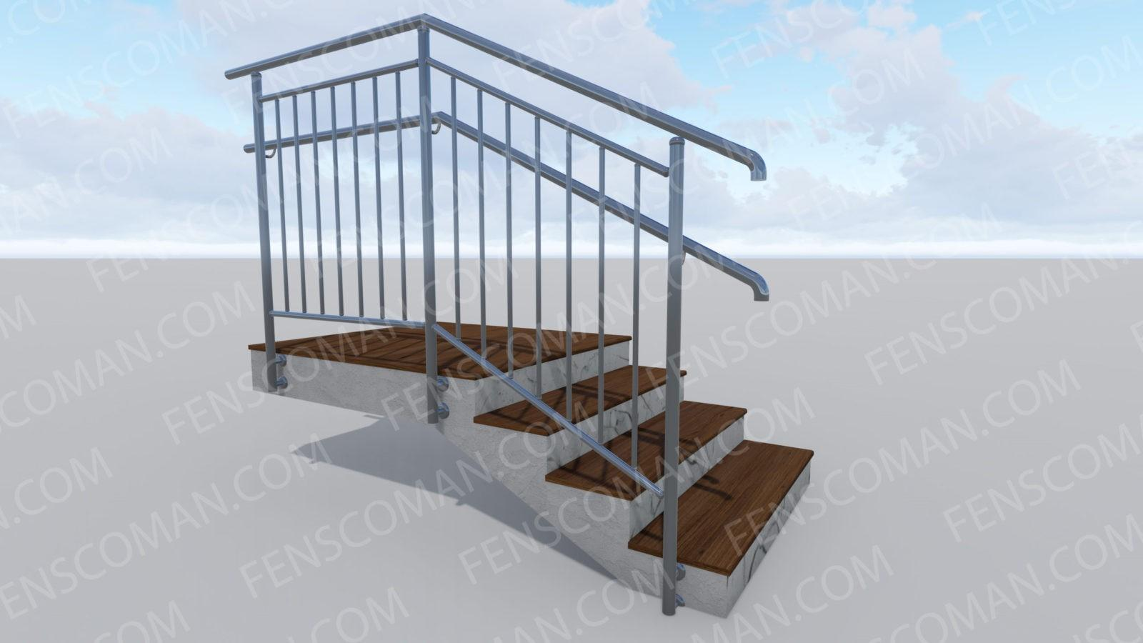 Ограждения для лестниц ОГ-В-1-Б-201