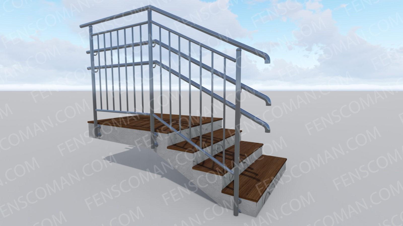 Ограждения для лестниц ОГ-В-2-Б-201