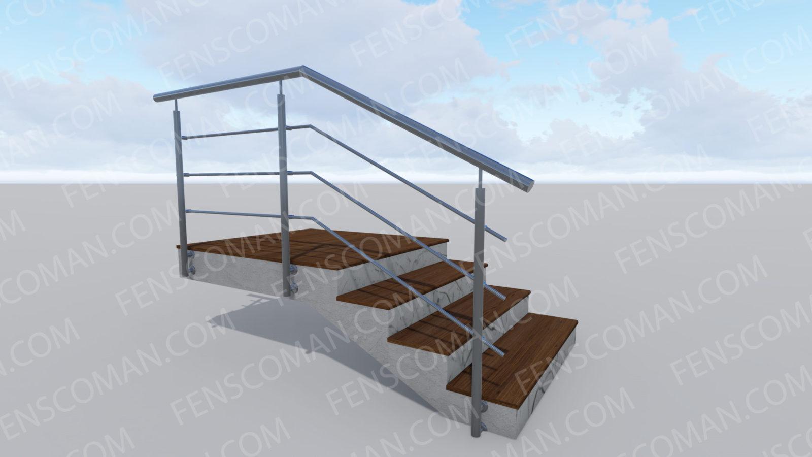 Ограждения для лестниц ОГ-3-РД-ШТ-Б-201