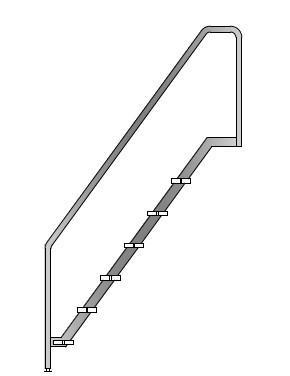 Лестница Тип 5 для бассейна