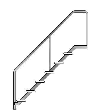 Лестница Тип 6 для бассейна